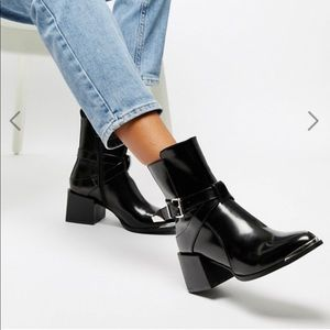 RAID Poppy Black Western Ankle Boot